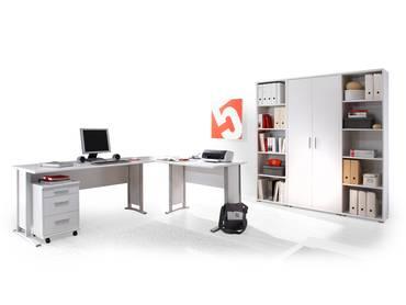 OFFICE LINE Heimbüro 7-tlg. weiss Dekor