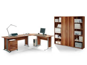 OFFICE LINE Heimbüro 7tlg walnuss Dekor