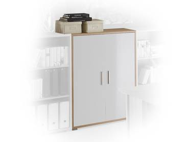 office line rollcontainer eiche sonoma wei. Black Bedroom Furniture Sets. Home Design Ideas