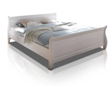 OXFORD Doppelbett 180x200 cm Kiefer weiß