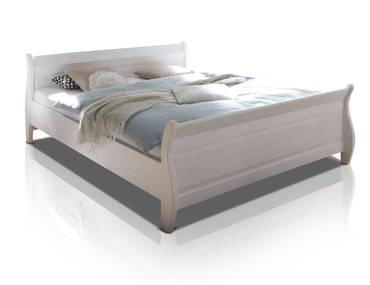 OXFORD Doppelbett 180x200 cm, Material Massivholz, Kiefer weiss