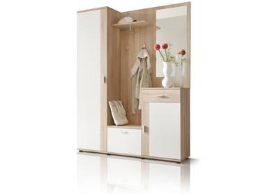 PAINT Garderobe 3tlg Eiche Sonoma Dekor/weiß