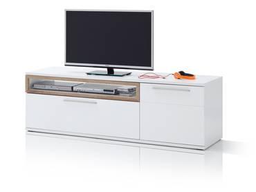PANCRAS II TV-Element weiß/Eiche Riviera Nachbildung MDF
