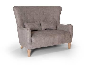 RIGA 2-Sitzer Sofa Webstoff grau