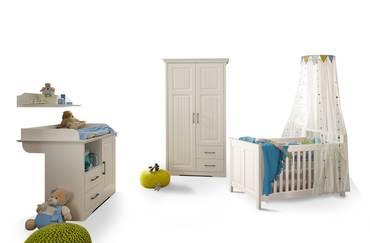 SAMIRA Komplett-Babyzimmer Kiefer weiss