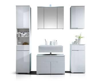 SANDRA Badezimmer-Set 5tlg weiß