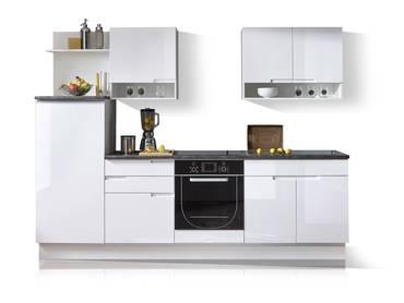 SANDRA Küchenblock Hochglanz weiß