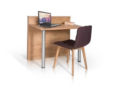 HOTEL Schreibtisch, Material Dekorspanplatte, wildeichefarbig