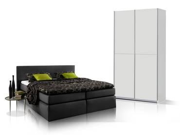 ORENO Schlafzimmerset - Schrank und Boxspringbett