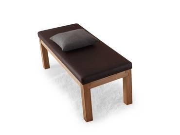 SALIMA Sitzbank/Massivholzbank 130 cm | Kernbuche | geölt | rehbraun | ohne Rücken
