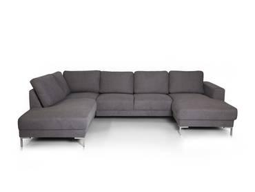 SOYO Ecksofa/U-Sofa Stoffbezug grau