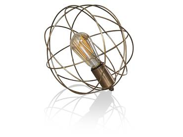 SPACE Tischlampe Metall mit Antikbronze-Finish