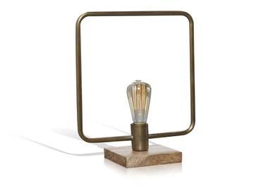 SPOIL Tischlampe Metall eckig mit Antikbronze-Finish