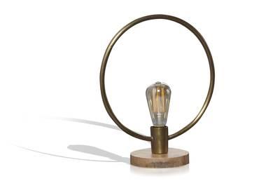 SPOIL Tischlampe Metall rund mit Antikbronze-Finish