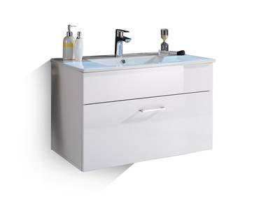 SLOT Waschtisch inkl. Becken mit einer Schublade weiss