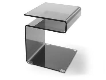 SUSY Beistelltisch Glas schwarz