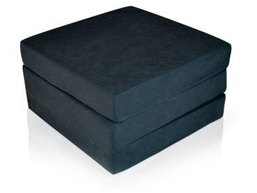 SWING Luxus Faltmatratze für Erwachsene in schwarz Komforthöhe 12 cm
