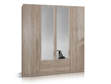 SWEN Kleiderschrank mit Spiegel