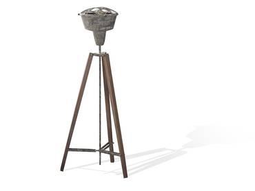 TAMARA Stehlampe Metall grau