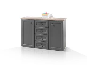 TELIA Sideboard grau/holzfarbig