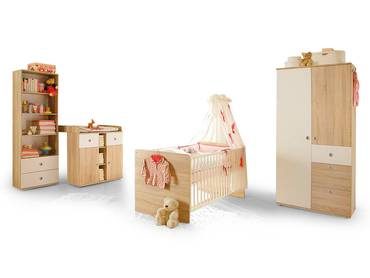 TINA Babyzimmer Sonoma Eiche/weiß