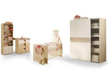 TINA Babyzimmer Sonoma Eiche/weiß mit Schweber