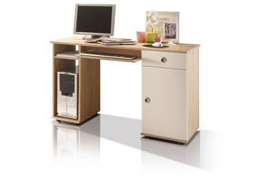 TINA Schreibtisch Sonoma Eiche/weiß