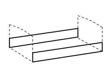 LEVINA Bettseiten/Umbauseiten, Material Dekorspanplatte, weiss/piniefarbig