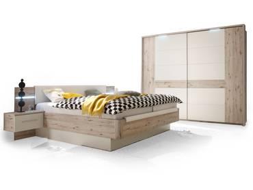 schlafzimmer set update sandeiche wei. Black Bedroom Furniture Sets. Home Design Ideas