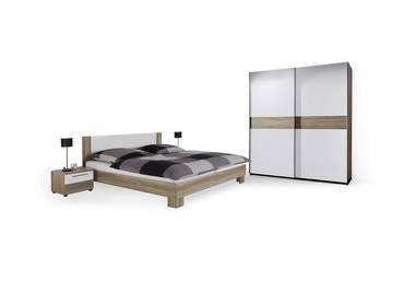 Komplett-Schlafzimmer | Schrank, Bettgestell, Nachtkommode ...
