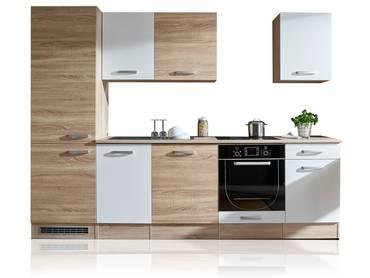 VINO Küchenblock, Material Dekorspanplatte, Eiche sonomafarbig/weiss