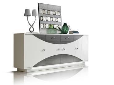 WANDA Sideboard II weiß/Eiche grau