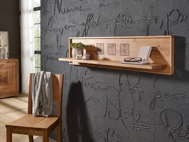 WINSTON Wandboard Wildeiche mit Hirnholz 130 cm
