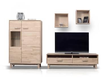 wohnw nde aus eiche modern kombiniert mit hochglanz hier online kaufen. Black Bedroom Furniture Sets. Home Design Ideas