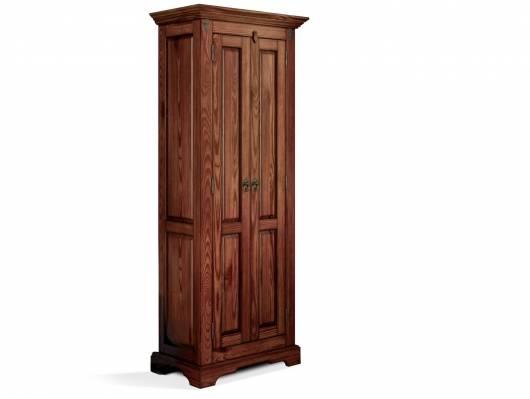 CESI Kleiderschrank 2türig, Material Massivholz, Pinie braun lackiert