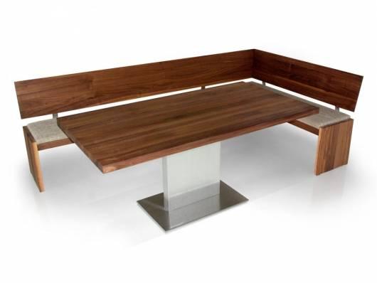 BUENA Säulentisch Esszimmertisch Maßtisch, Material Massivholz/Edelstahl