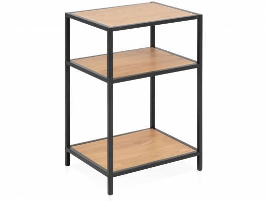 SYDNEY Nachttisch, Material MDF, schwarz/wildeichefarbig