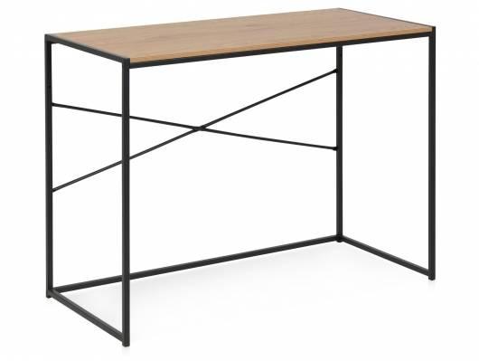 SYDNEY Schreibtisch I, Material MDF, schwarz/wildeichefarbig