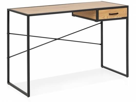 SYDNEY Schreibtisch II, Material MDF, schwarz/wildeichefarbig