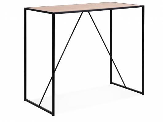 SYDNEY Bartisch 120 x 60 cm, Material MDF, schwarz/wildeichefarbig