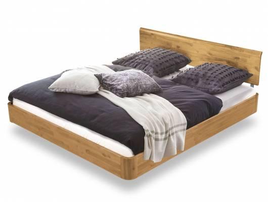 SABU Doppelbett / Schwebebett, Material Massivholz, Akazie