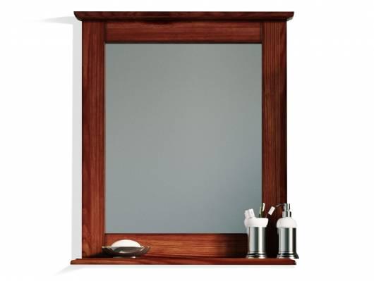 CESI Spiegel 67x78 cm, Rahmen Massivholz, Pinie braun