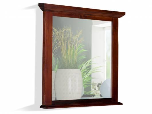 CESI Spiegel 75x70 cm, Rahmen Massivholz, Pinie braun