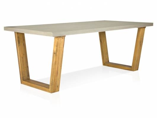 GLAY Esstisch 200x100 cm, Material Massivholz, Pinie/Beton