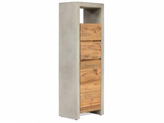 GLAY Hochkommode, Material Massivholz, Beton/Pinie