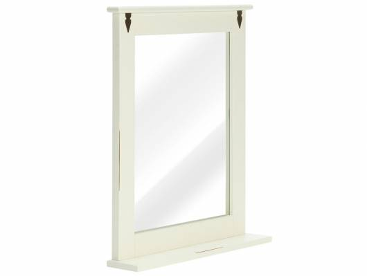 CESI Spiegel 67x78 cm, Rahmen Massivholz, Pinie weiss