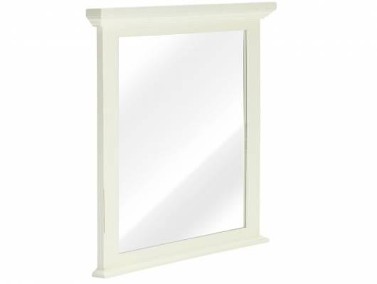 CESI Spiegel 75x70 cm, Rahmen Massivholz, Pinie weiss