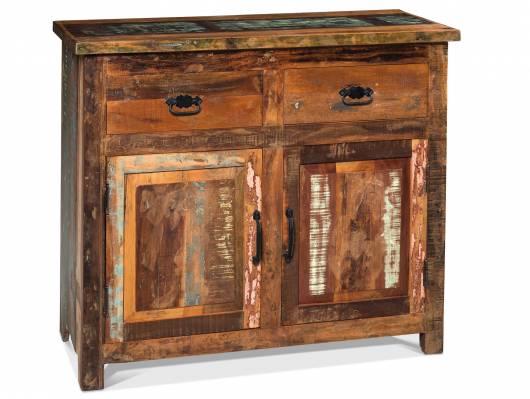 LENDOR Sideboard, Material Massivholz, Vintage-Optik