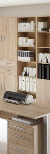 office line schrank offen schmal eiche sonoma. Black Bedroom Furniture Sets. Home Design Ideas