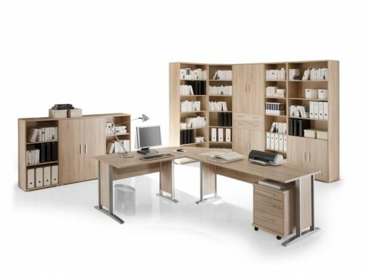 OFFICE LINE Heimbüro I 9tlg, Material Dekorspanplatte, Eiche sonomafarbig